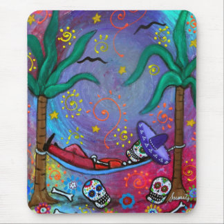 Dia de los Muertos mariachi Siesta by Prisarts Mouse Pad