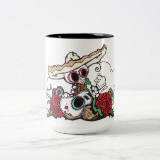 dia de los muertos mariachi Two-Tone coffee mug