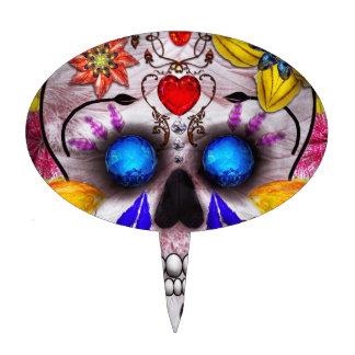 Día de los muertos - máscara de muerte palillos de tarta