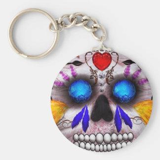 Día de los muertos - máscara de muerte llaveros personalizados