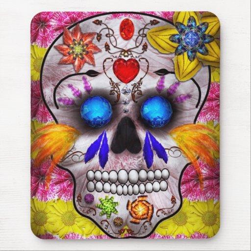 Día de los muertos - máscara de muerte tapetes de ratones