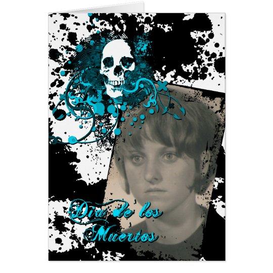 dia de los muertos memorial celebration card