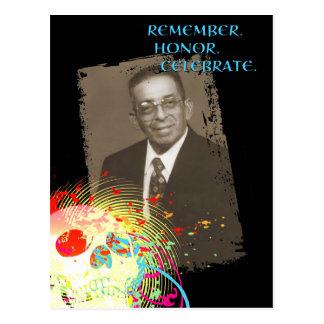 dia de los muertos memorial celebration (hi-fi) postcard