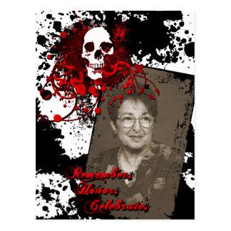 dia de los muertos memorial celebration postcard
