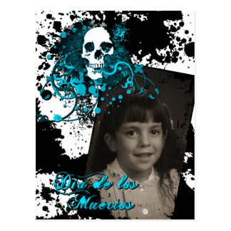 dia de los muertos memorial celebration postcard
