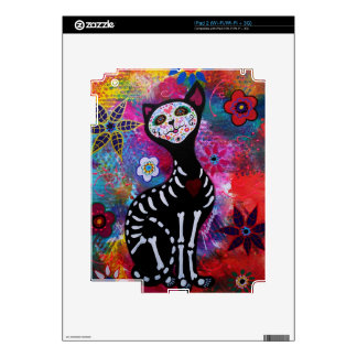 Dia de los Muertos Meow Cat by Prisarts Decal For iPad 2