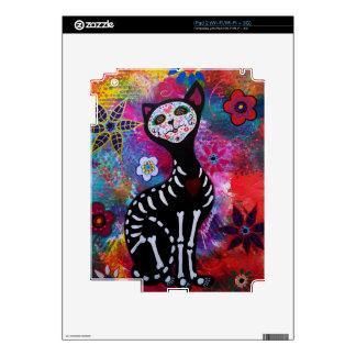 Dia de los Muertos Meow Cat by Prisarts Decal For iPad 2