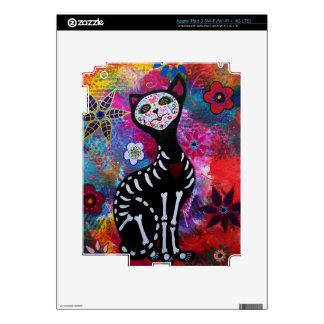 Dia de los Muertos Meow Cat by Prisarts Skin For iPad 3