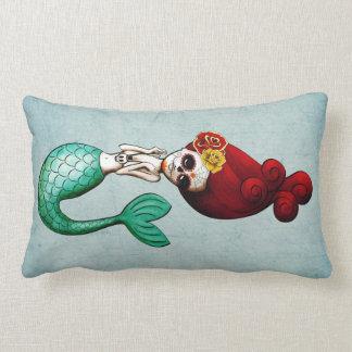 Dia de Los Muertos Mermaid Beauty Lumbar Pillow