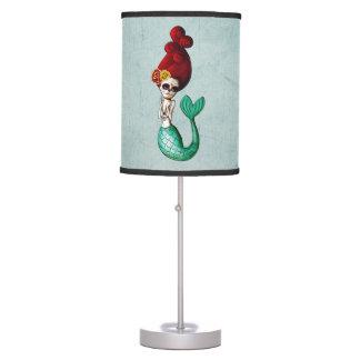 Dia de Los Muertos Mermaid Lámpara De Escritorio