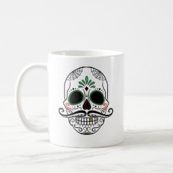 Classic White Mug with Mustache Mugs design