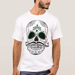Men's Basic T-Shirt with Mustache Mugs design