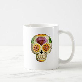 Dia de Los Muertos Mexican Sugar Skull Classic White Coffee Mug