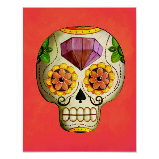 Dia de Los Muertos Mexican Sugar Skull Poster