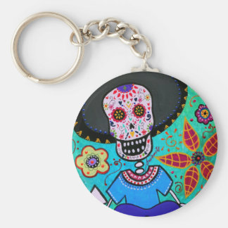 Dia de los Muertos Mister Mariachi Key Chains