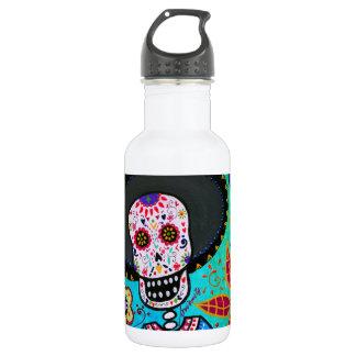 Dia de los Muertos Mister Mariachi 18oz Water Bottle