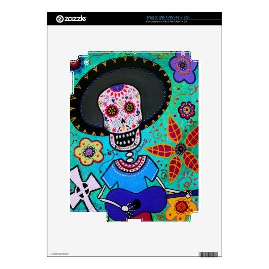 Dia de los Muertos Mister Mariachi Skin For The iPad 2