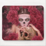 "Dia de los Muertos Mousepad<br><div class=""desc"">For the Dia de los Muertos (Day of the Dead) celebration,  here&#39;s a dark fantasy art of two painted skulls surrounded by red roses.</div>"
