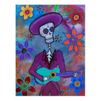 Dia de los Muertos Musico Postcard