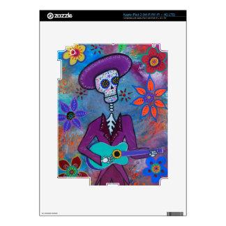 Dia de los Muertos Musico Skins For iPad 3