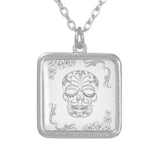 Dia de los muertos custom necklace