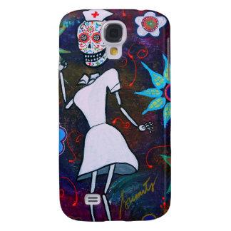 Dia de los Muertos Nurse Funda Para Galaxy S4