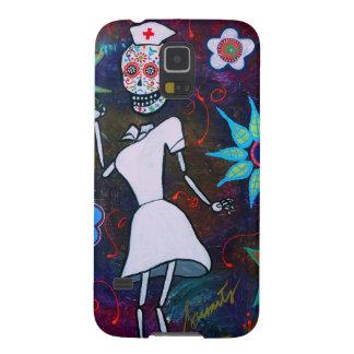 Dia de los Muertos Nurse Carcasas Para Galaxy S5