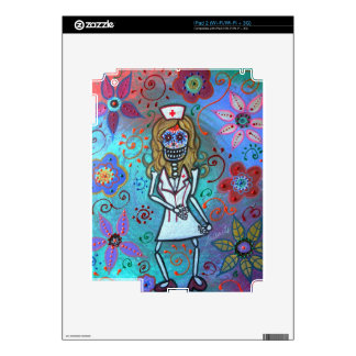 Dia de los Muertos  Nurse II Painting Skin For The iPad 2
