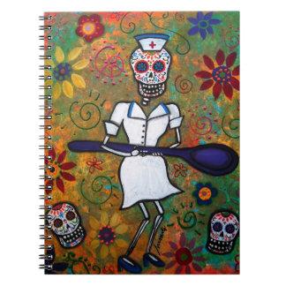 Dia de los Muertos NURSE Notebook Spiral Note Books