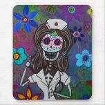 Dia de los Muertos Nurse RN Mousepad