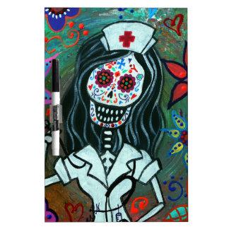 Dia de los Muertos Nurse RN painting Dry-Erase Whiteboards