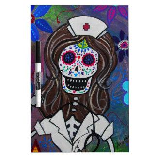 Dia de los Muertos Nurse RN Pizarra Blanca