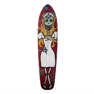 Dia de los Muertos Nurse Skateboard
