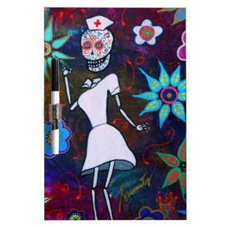 Dia de los Muertos Nurse Tablero Blanco