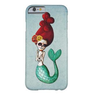 Dia de Los Muertos Old School Mermaid Barely There iPhone 6 Case