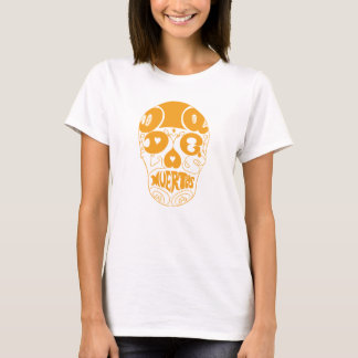 Dia de los Muertos Orange typography Skull T-Shirt