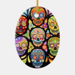 Dia de los Muertos Ornament Adorno Ovalado De Cerámica