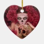 Dia de los Muertos Ornament Adorno De Cerámica En Forma De Corazón