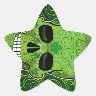 dia de los muertos pegatina en forma de estrella