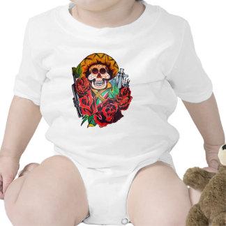 dia de los muertos traje de bebé