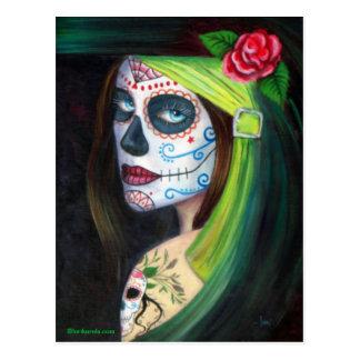 Día de los muertos por Lorri Karels Postal
