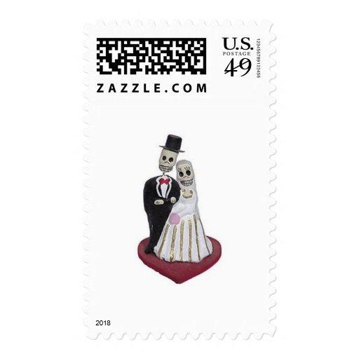 Dia de los Muertos Postage Stamps