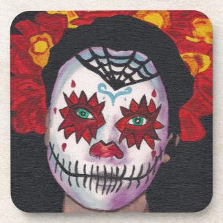 Dia De Los Muertos Red Lady Coaster