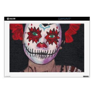 Dia De Los Muertos Red Lady Laptop Skins