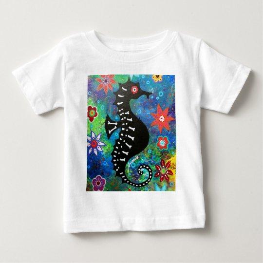 Dia de los Muertos Seahorse Baby T-Shirt