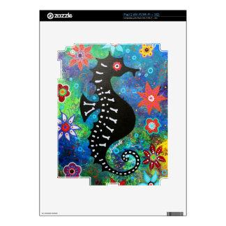Dia de los Muertos Seahorse Decal For iPad 2