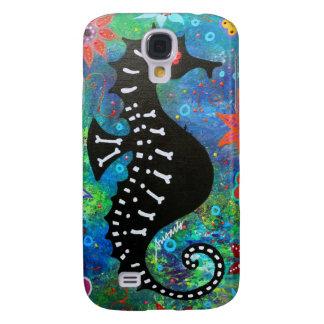 Dia de los Muertos Seahorse Funda Para Galaxy S4