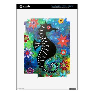 Dia de los Muertos Seahorse Pegatinas Skins Para iPad 3