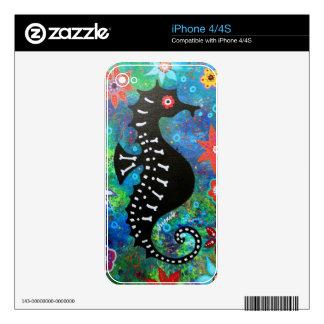 Dia de los Muertos Seahorse iPhone 4S Skins