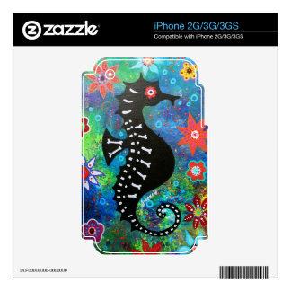 Dia de los Muertos Seahorse iPhone 3G Skin